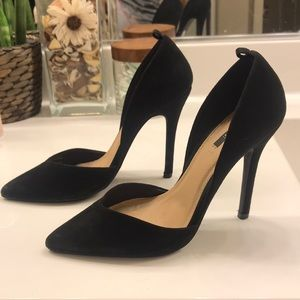 Back pointed stiletto heels